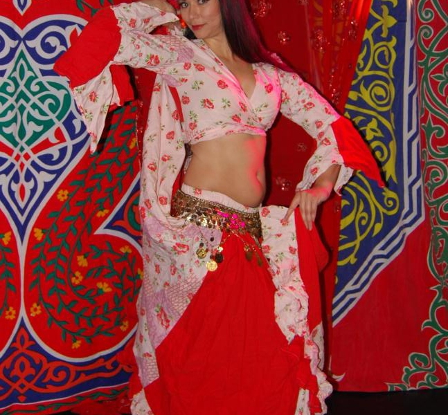 White and red skirt dance costume (2009)