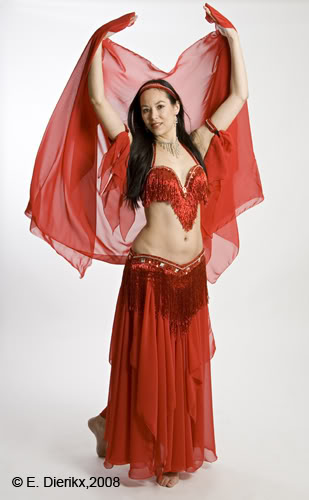 Red fringe costume 2008